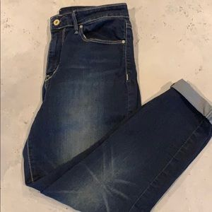 Levi High Rise Ankle Skinny-Size 8
